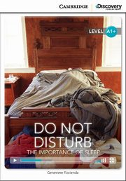 Do Not Disturb: The Importance of Sleep High Beginning Book with Online Access, Kocienda Genevieve