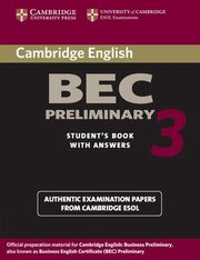 Cambridge BEC Preliminary 3 Student's Book with Answers,
