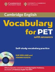 Cambridge Vocabulary for PET Student Book with answers, Ireland Sue, Kosta Joanna