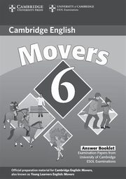 ksiazka tytuł: Cambridge Young Learners English Tests 6 Movers Answer Booklet autor: