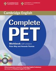 Complete PET Workbook with answers + CD, May Peter, Thomas Amanda