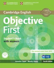 Objective First Student's Book with Answers + CD, Capel Annette, Sharp Wendy
