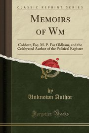 Memoirs of Wm, Author Unknown