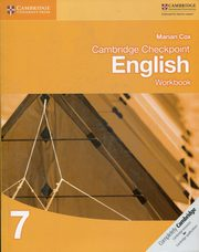 Cambridge Checkpoint English Workbook 7, Cox Marian